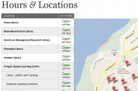 Library Hours and Locations Application