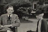 Thomas Stearns Eliot with his sister and his cousin by Lady Ottoline Morrell