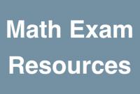 Math Exam Resources