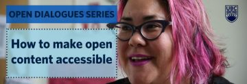"""Photo of Tara """"How to make open content accessible"""""""