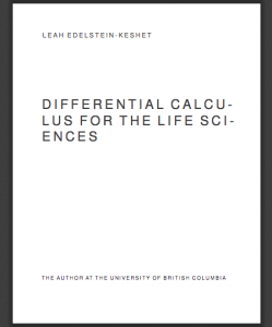 Differential Calculus for the Life Sciences