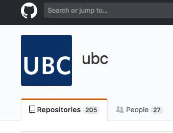 UBC GitHub Repositories