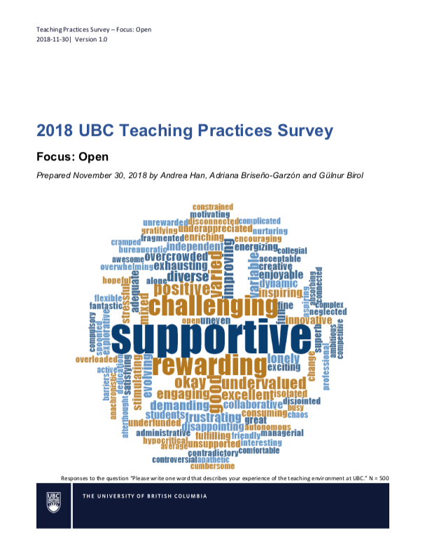 2019 Teaching Practices Report Cover