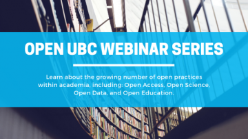 Open UBC Webinar Series