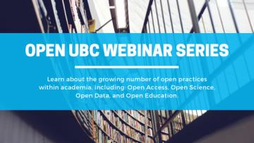 Open UBC Webinar Series