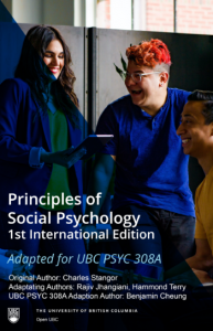 Principles of Social Psychology (1st International Edition) – Adaptation for UBC PSYC 308A
